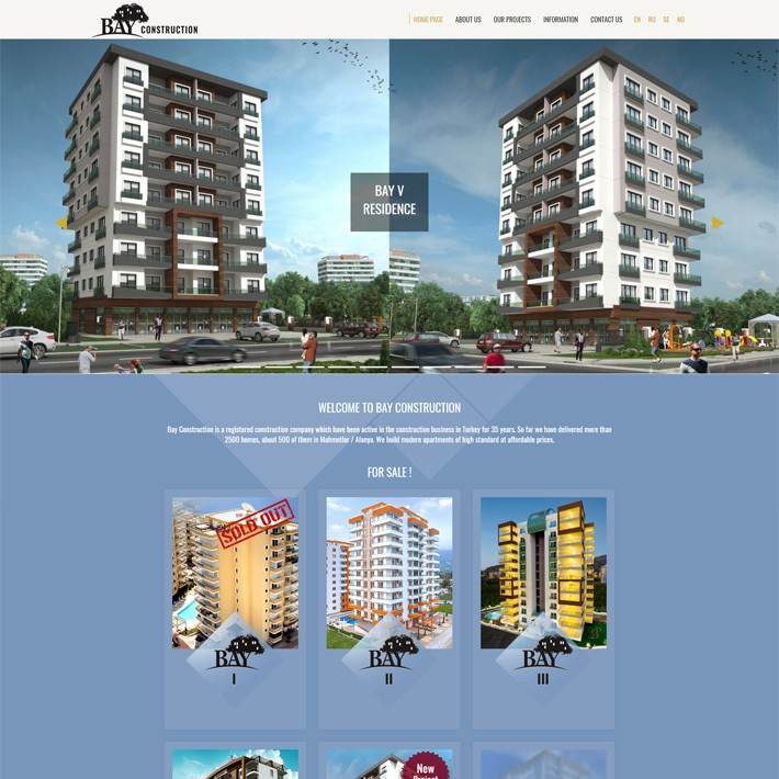 Bay Construction - EN web sitesi