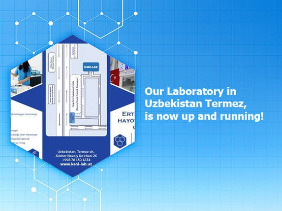 Our Laboratory in Uzbekistan Termez, is now up and running!