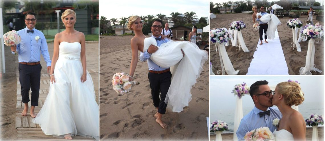 beach wedding in antalya turkey