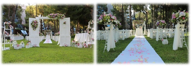 Marriage Ceremony at Green Area in turkey