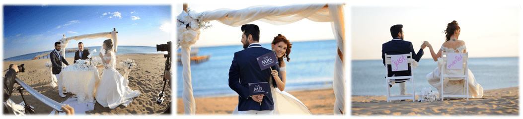 marriage on beach in antalya