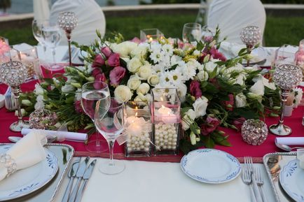 wedding dinner table design in Turkey