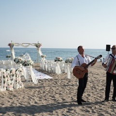 marriage ceremony at beach in Antalya