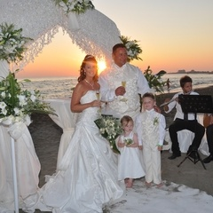 marriage ceremony at the beach in Antalya