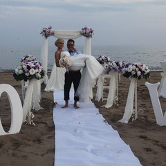 Wedding in Mediterranean Beach in Antalya