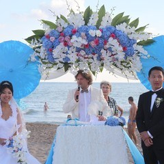 Civil marriage at beach in Antalya