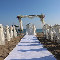 Altar decoration at the beach in Antalya