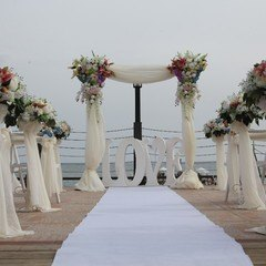 Wedding at Mediterranean beach in Antalya