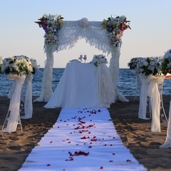 Marriage ceremony on beach in Antalya