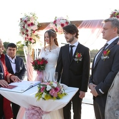 civil marriage on beach in antalya