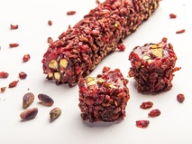 Ribbon Delight with Zeresh Grape, Pistachio & Pomegranate
